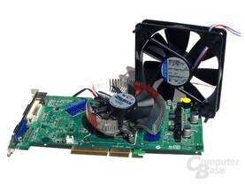 GeForce 6800 GT und leise Kühlhardware von Zalman und Papst