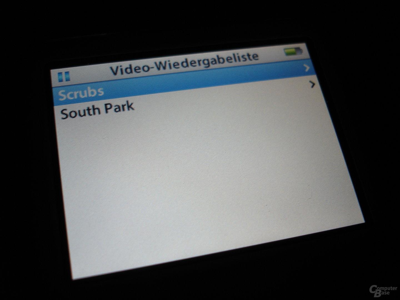 iPod video - Videowiedergabeliste