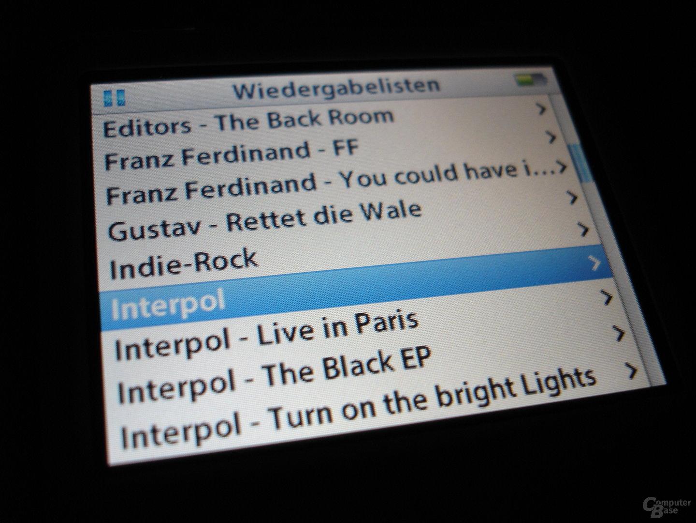 iPod video - Wiedergabelisten