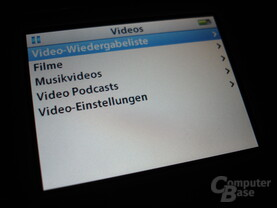 iPod video - Videowiedergabe