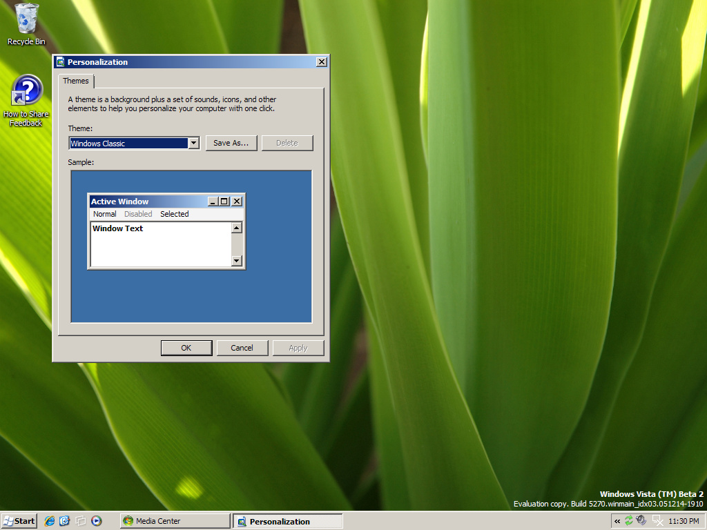 Windows Vista Classic
