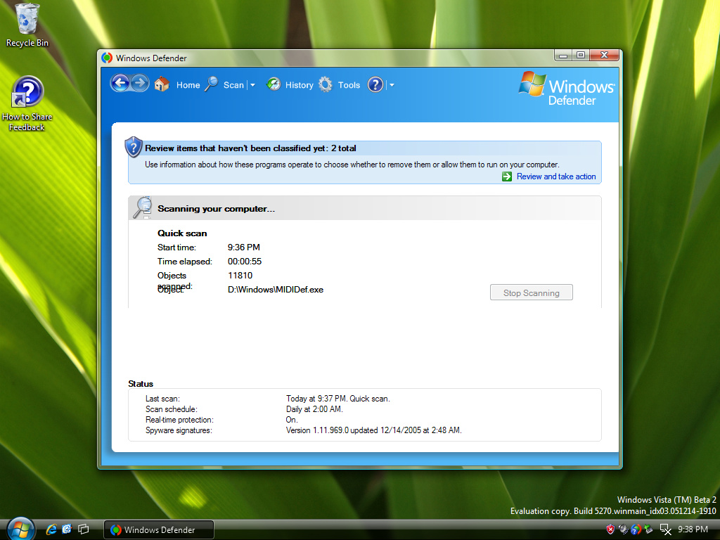 Windows Defender (ehemals Anti-Spyware)
