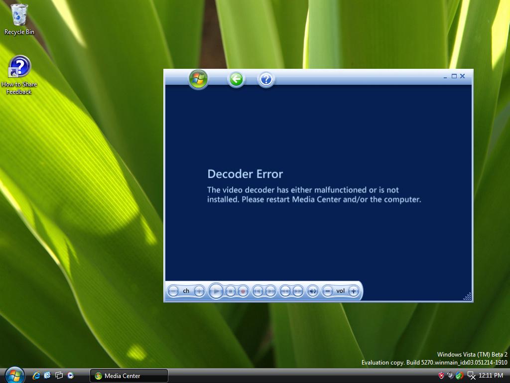 Windows Media Center – Fehlender MPEG2-Decoder
