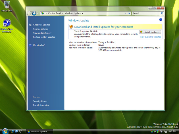Windows Vista Update
