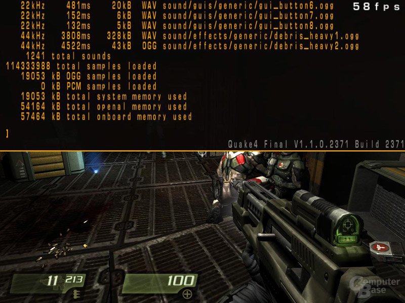 Quake 4 mit X-Fi Fatal1ty FPS