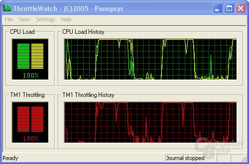 Pentium XE 955 auf 4,266 GHz (throttelt)