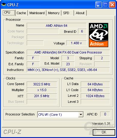 Athlon 64 FX-60 auf 3,0 GHz