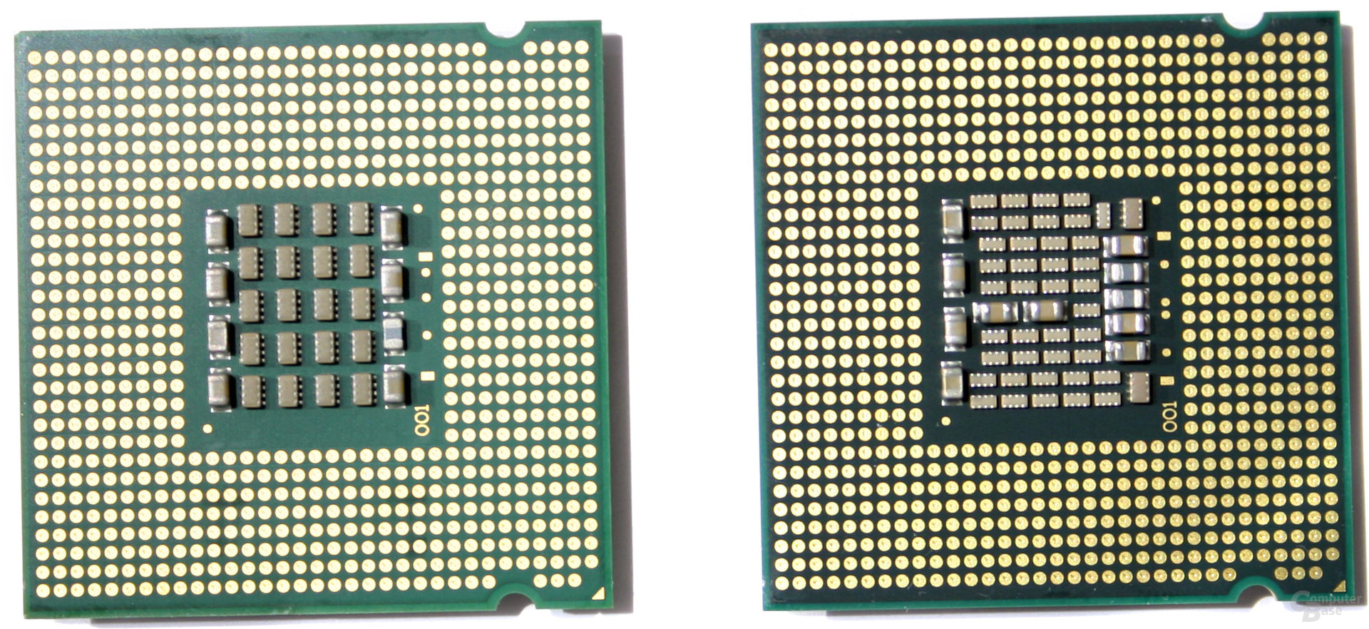 Pentium XE 840 (links) und XE 955 (rechts)