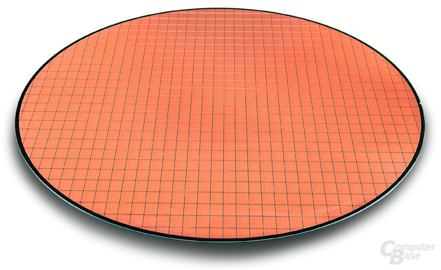 Wafer mit Intel Core Duo-Prozessoren