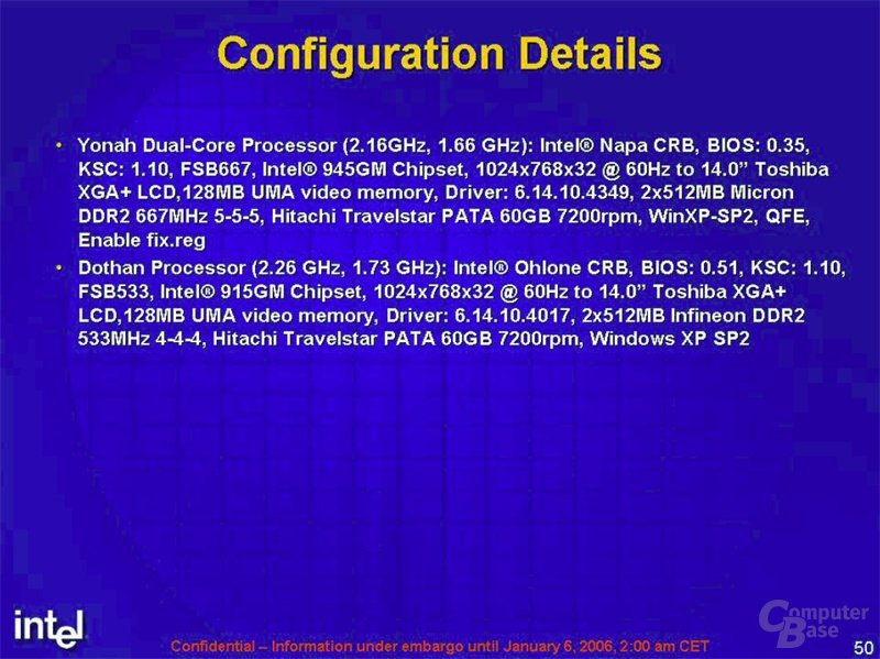 Intel Benchmarks