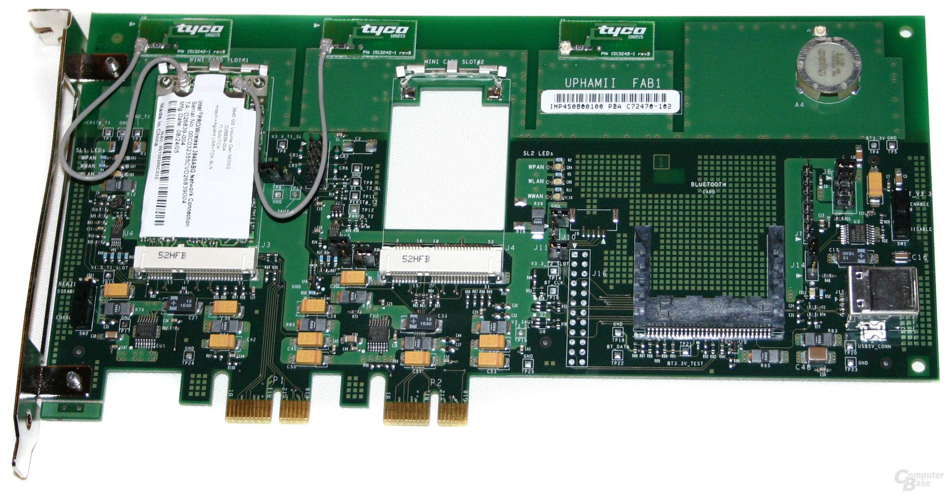PRO Wireless 3945ABG auf einer Testkarte