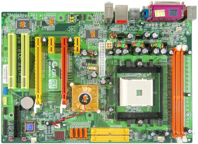 EPoX 8NPA SLI Komponenten