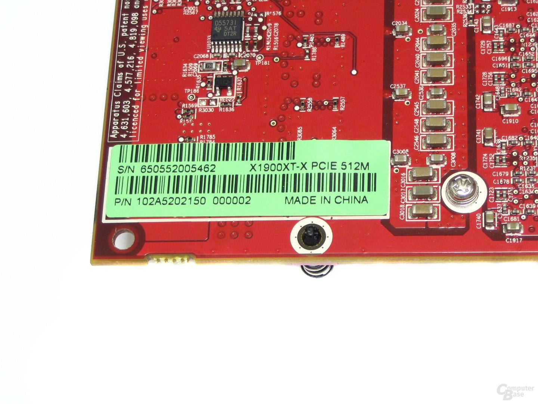 Radeon X1900 XTX Aufkleber
