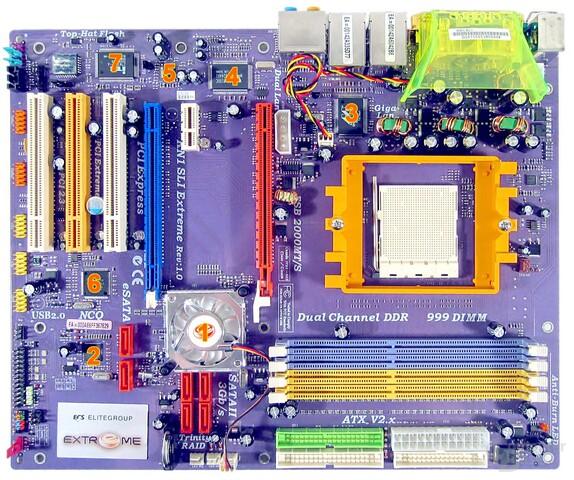 ECS KN1 SLI Extreme Komponenten