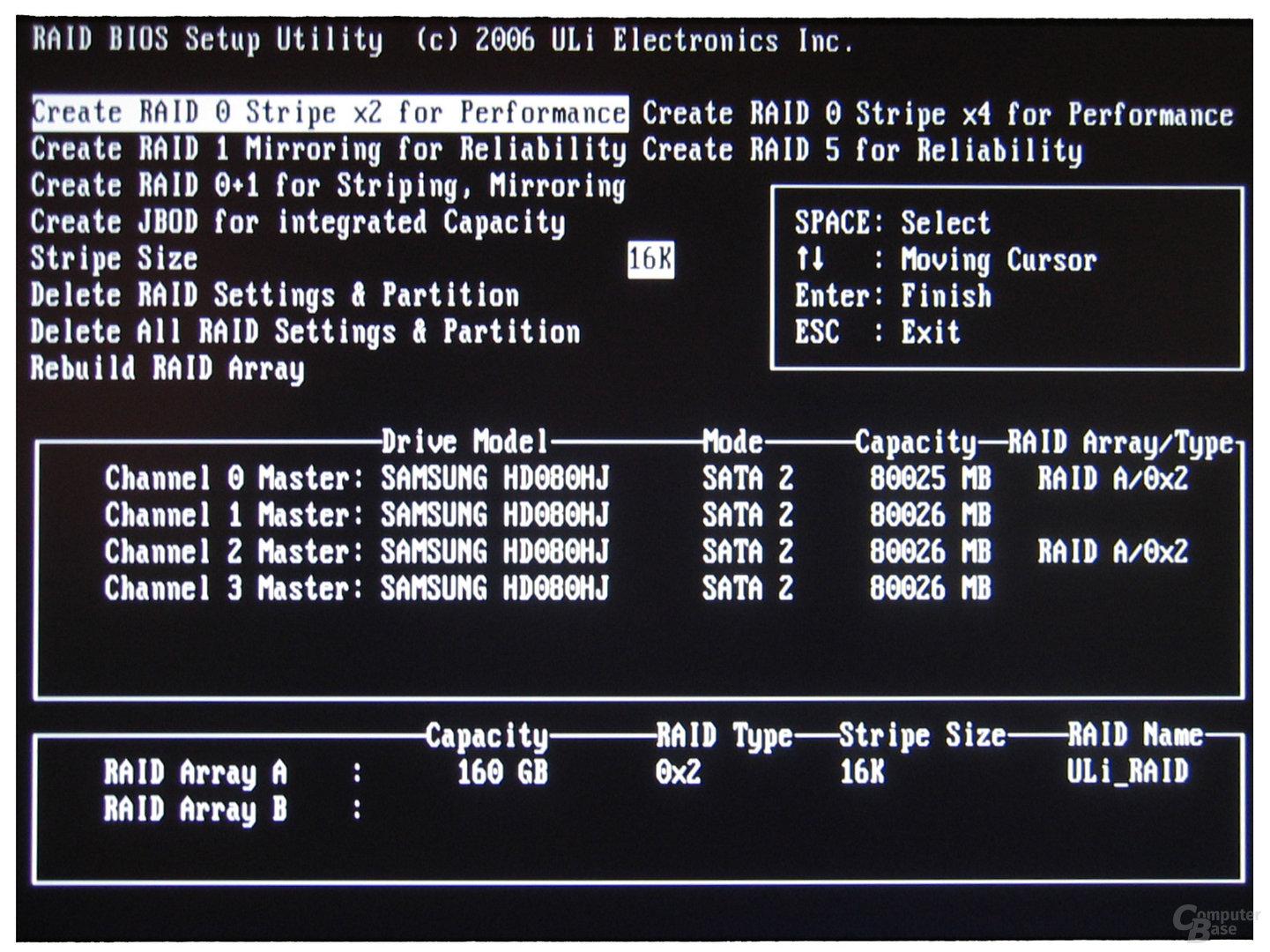 Asus A8R32-MVP ULi-RAID-Controller