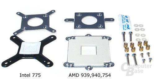 Montagekits für AMD und Intel