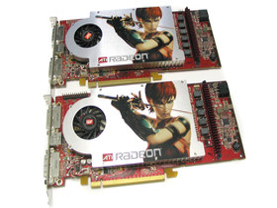 ATi Radeon X1800 GTO (oben) und Radeon X1800 XL