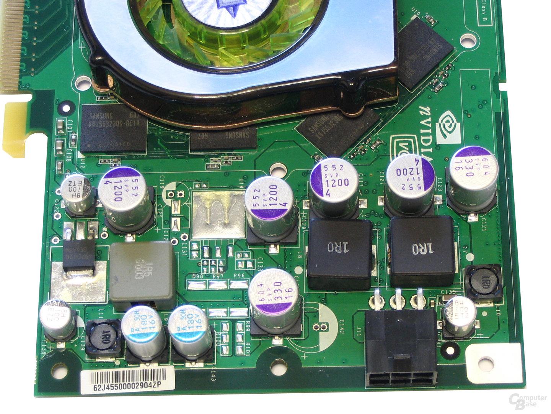 GeForce 7900 GT Spannungswandler