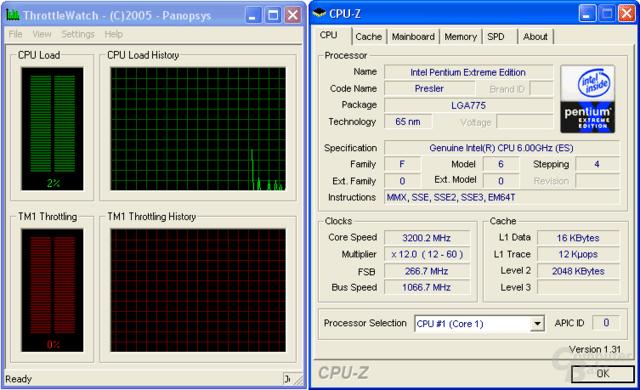 Pentium XE 965: Stromsparen mit 3,2 GHz