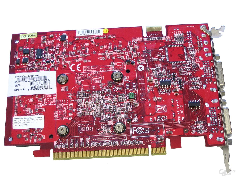 MSI NX7600 GS Rückseite