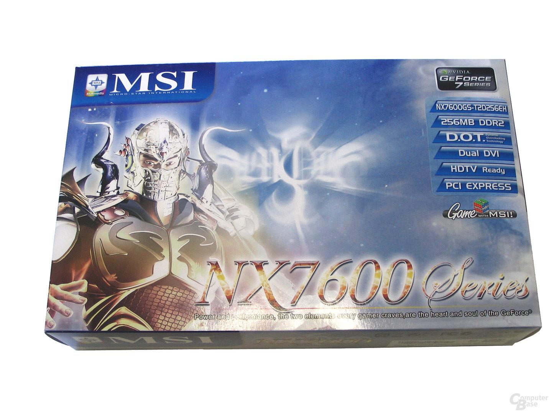 MSI NX7600 GS Verpackung