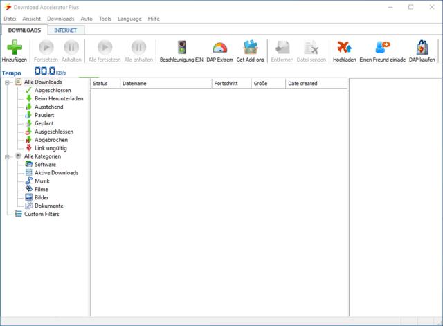 DAP 10 - Download Screen