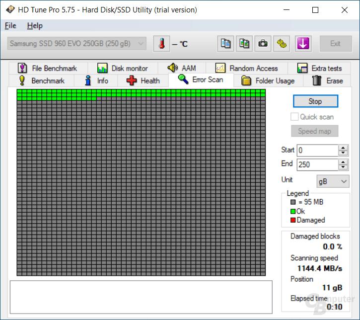 HD Tune - Error Scan