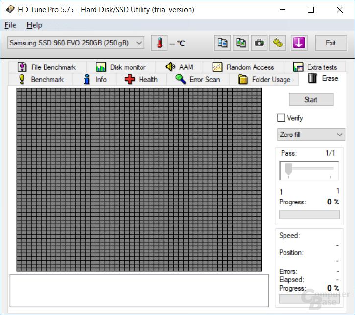 HD Tune – Erase