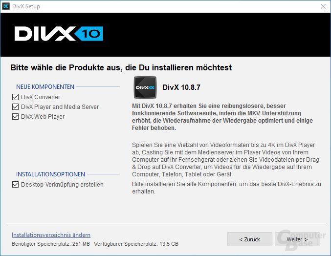 DivX – Installation