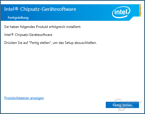 Intel Chipsatz – Installation