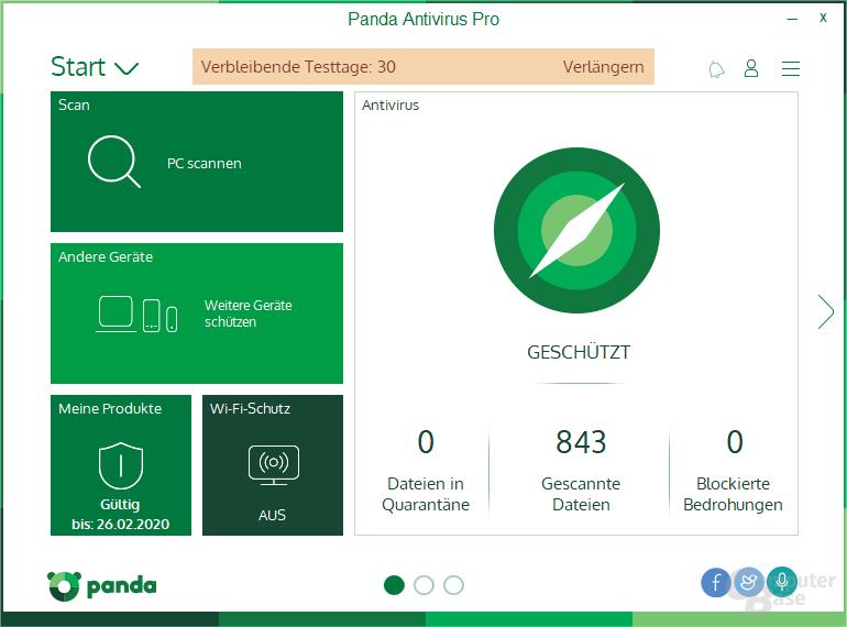 Panda Antivirus Pro – Start