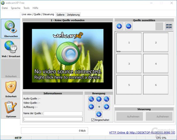 webcam 7 – Steuerung