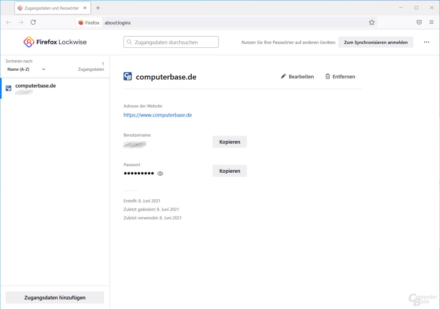Firefox Lockwise speichert und verwaltet Passwörter übersichtlich.
