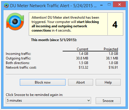 DU Meter – Network Connections Blocking