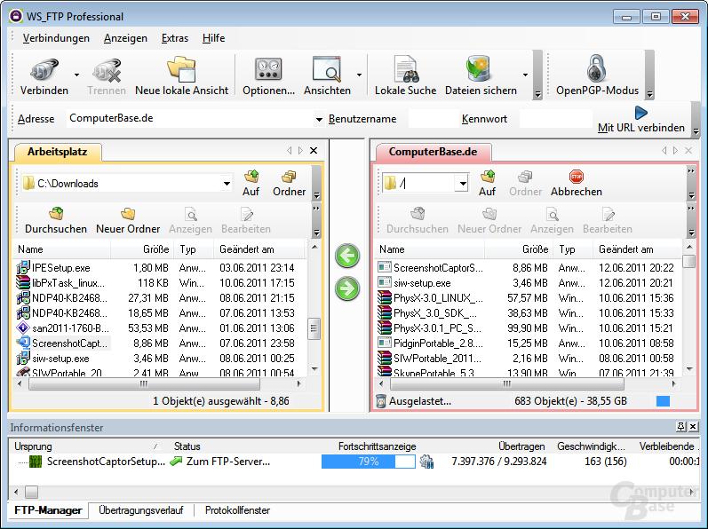 WS_FTP Professional 12.3 – Sichere Dateiübertragung