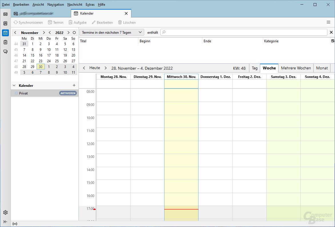 Mozilla Thunderbird – Kalender