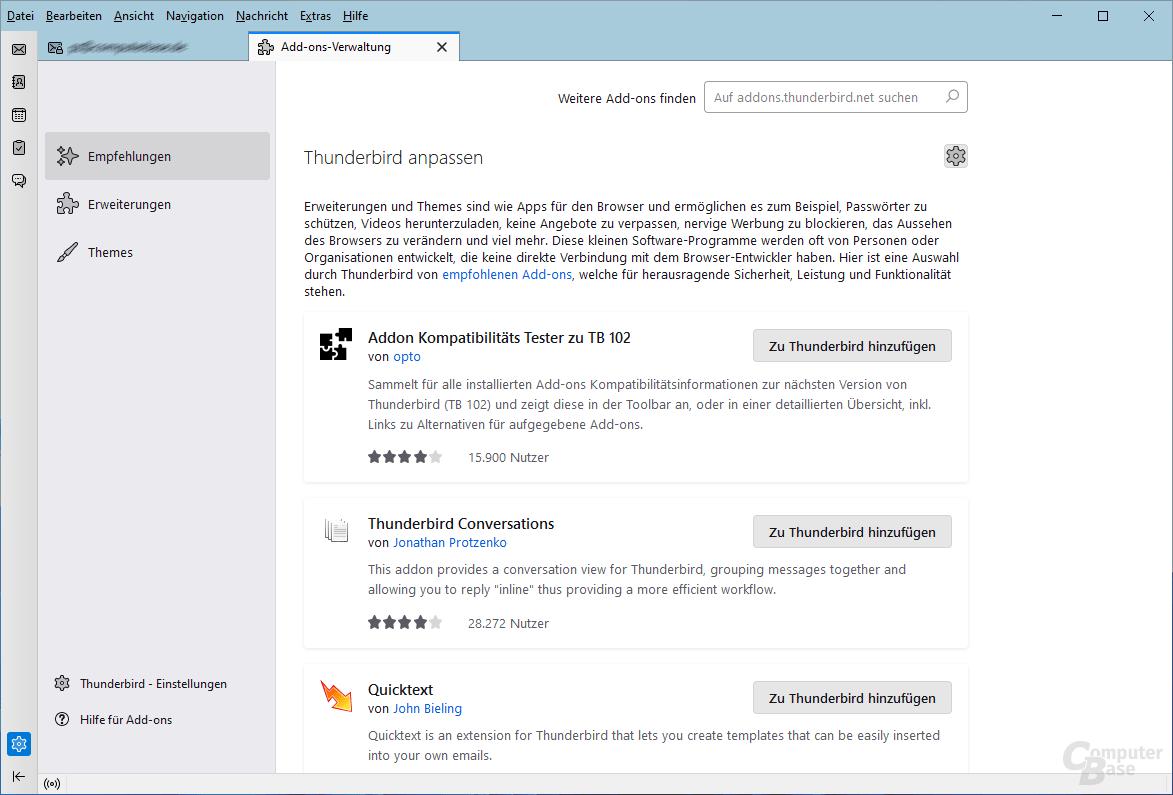 Mozilla Thunderbird – Mailübersicht