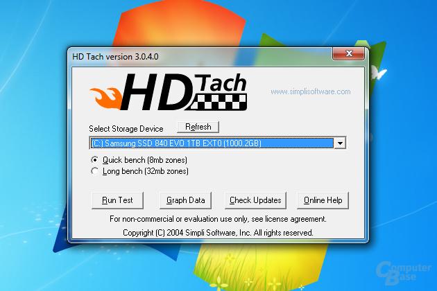 HD Tach läuft im Kompatibilitätsmodus unter Windows 7