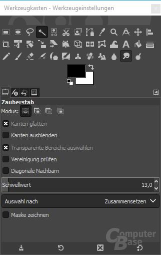 GIMP – Werkzeugkasten