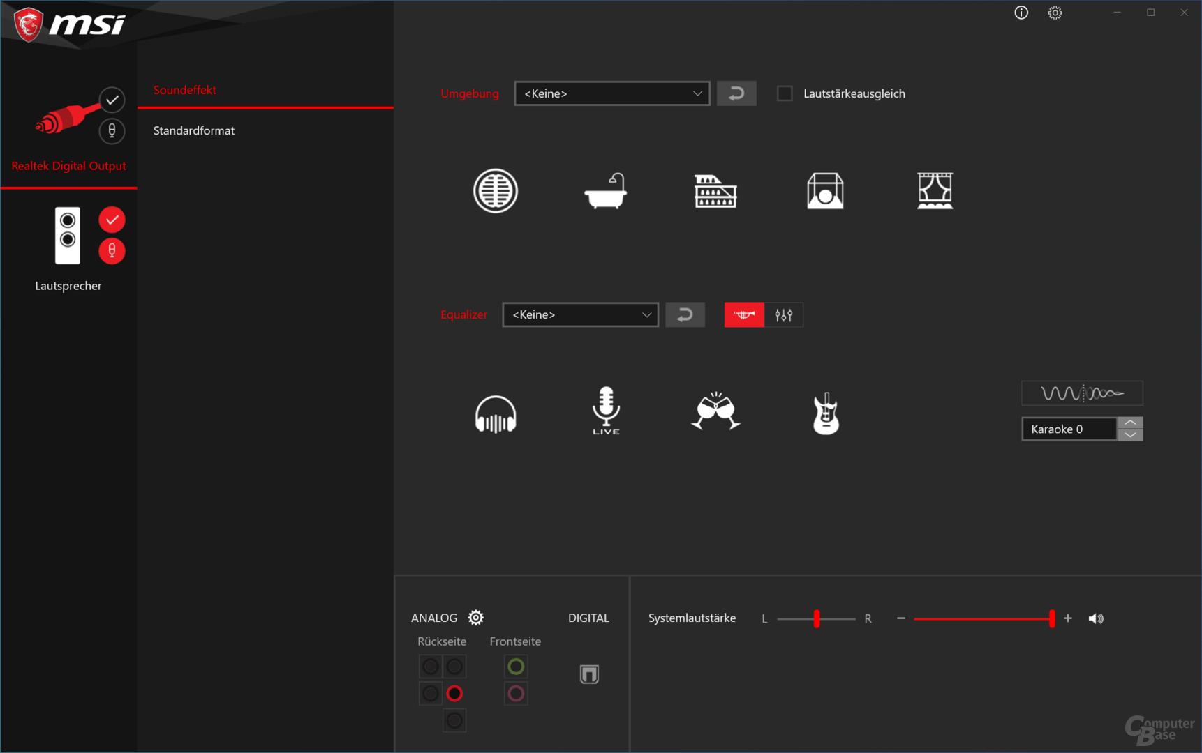Realtek HD Audio-Manager