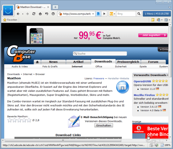 Maxthon 3.0 Dual Display Engine Web Browser