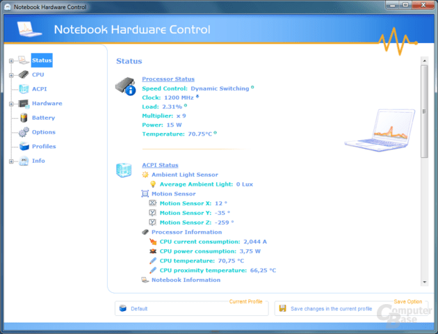 Notebook Hardware Control – Status
