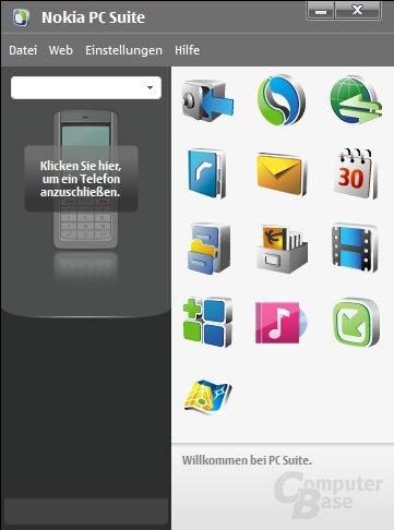 Nokia PC Suite – Oberfläche