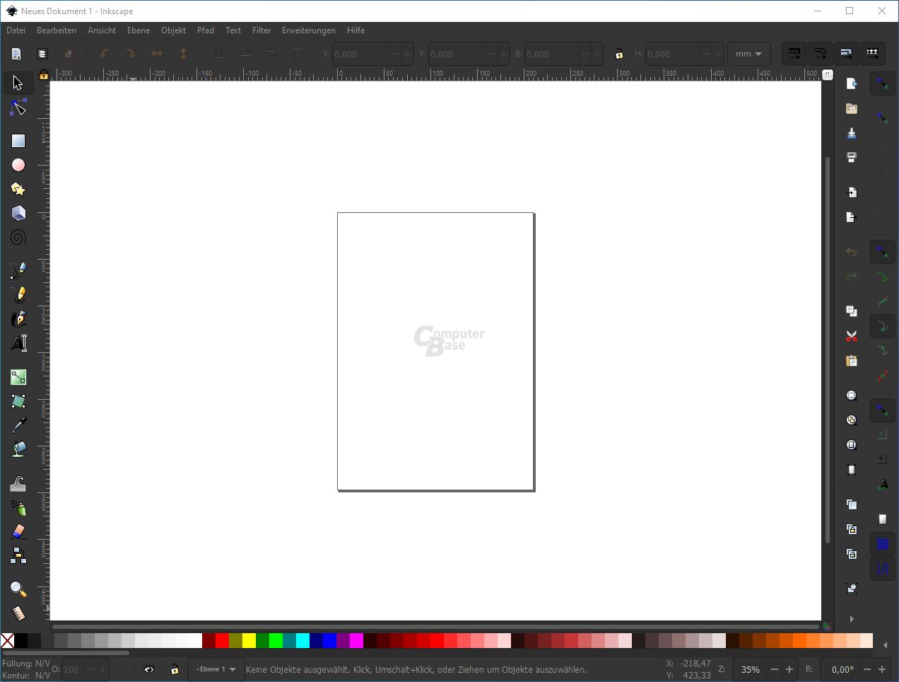 Inkscape – Oberfläche