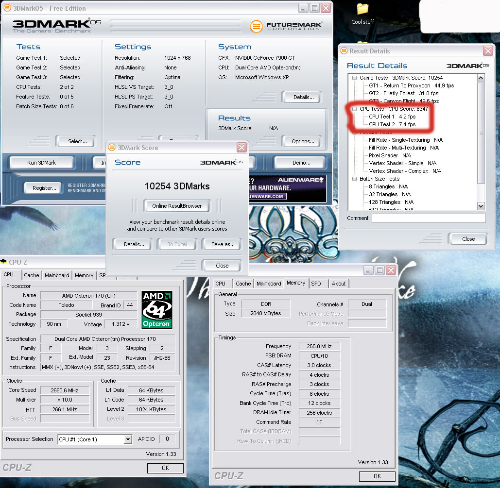 AMD Opteron at 2,66 GHz