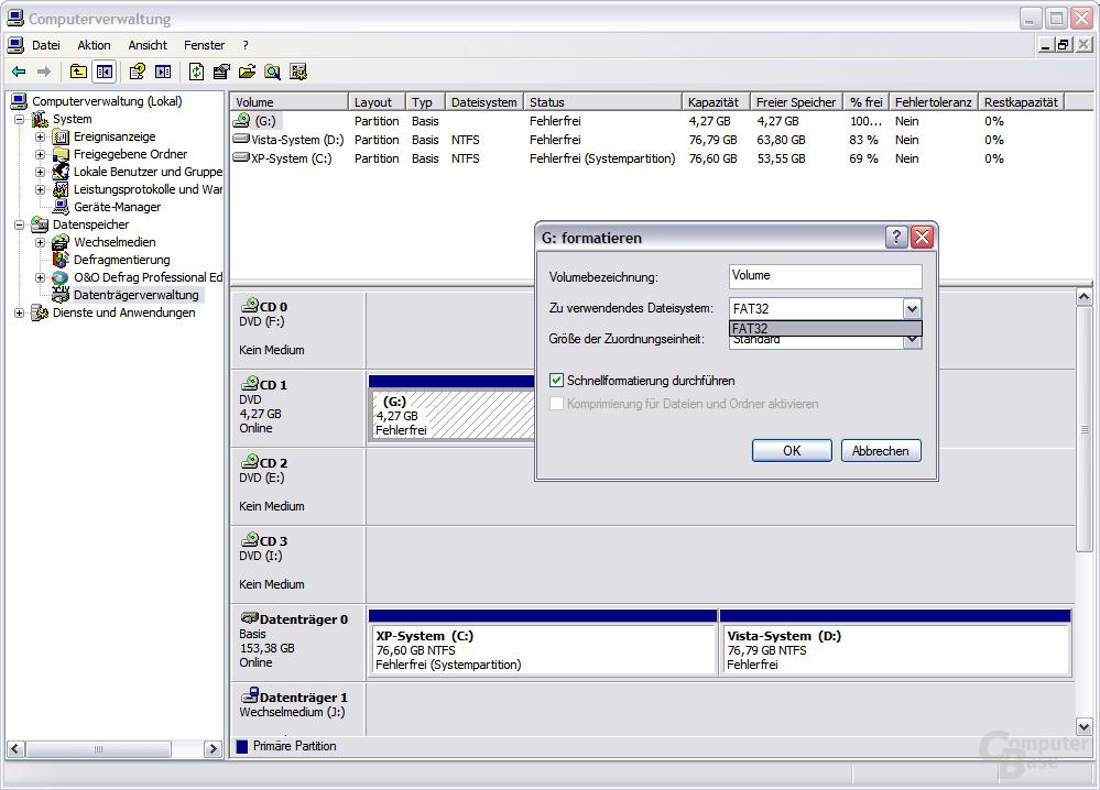 keine UDF-Unterstützung in Windows XP