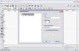 LightScribe-Editor - Eingabe der Dokumentdaten