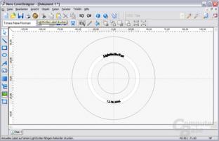 LightScribe-Editor nach Eingabe der Dokumentdaten