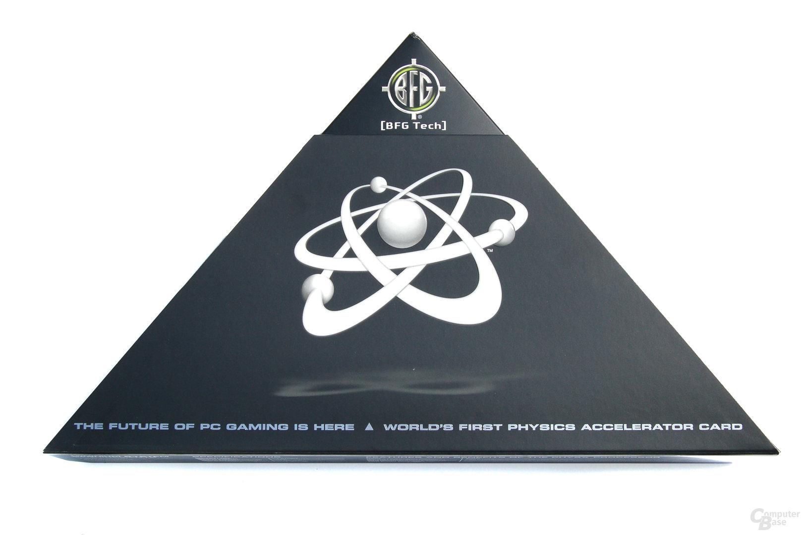 Verpackung der PhysX-Karte von BFG