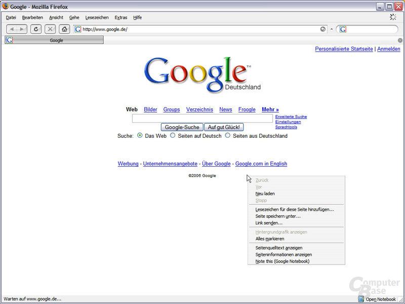 Google Notebook: neuer Eintrag & neues Symbol